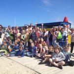 Velsense 7 en 8ste groepers weer aan de slag met de Strandkar op het IJmuiderstrand!