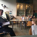 Wesley Zonneveld, keeper van Telstar als voorleesheld op de Dag van de Duurzaamheid 10/10 in het Pieter Vermeulen Museum!